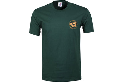Santa Cruz Depth Dot Tee Green