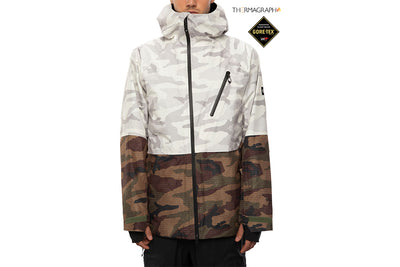 686 GLCR Gore Tex Hydra Down Thermagraph Jacket Camo Colourblock