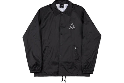 HUF Essential Triple Triangle Coaches Jacket Black
