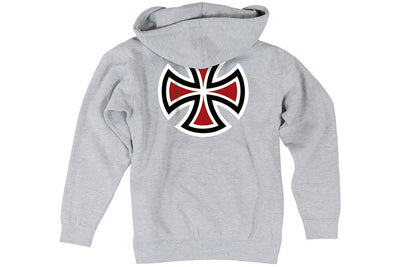 Independent Bar Cross Hoodie Heather Grey