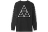 Huf Essentials Triple Triangle Long Sleeve Tee Black