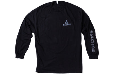 Sanction Collage Long Sleeve Tee Black