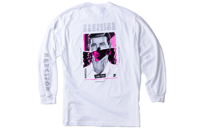 Sanction Collage Long Sleeve Tee White