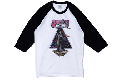Sanction Reaper Baseball Tee White Black
