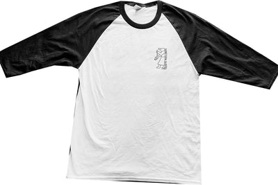 Sanction Sketchy Skateshop Baseball Tee Black White
