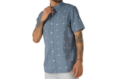 Vans Houser Short Sleeve Buttondown Shirt Eyeballed