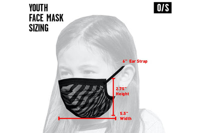 Volcom Youth Face Mask Black Destructo