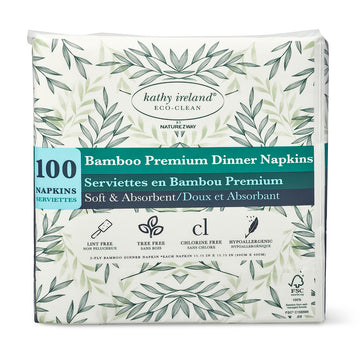 kathy ireland ECO-CLEAN BAMBOO DINNER NAPKINS