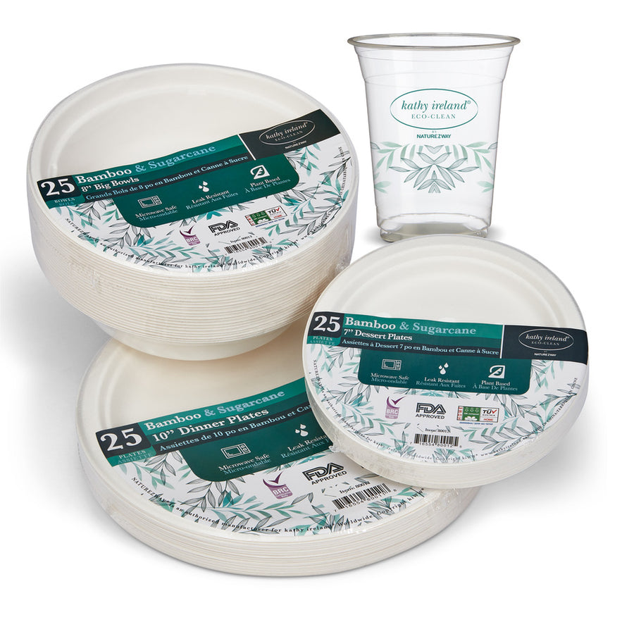 kathy ireland ECO-CLEAN COMBO DINING PACKS