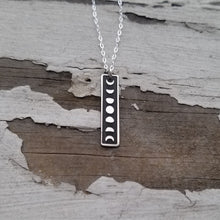 Load image into Gallery viewer, Moon Phases Lunar Cycle Necklace