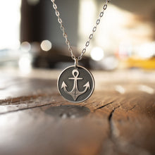 Load image into Gallery viewer, Nautical Anchor Necklace