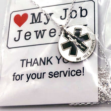 Load image into Gallery viewer, Star of Life We Will Survive Necklace Round