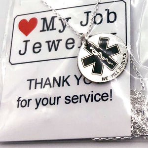 Star of Life We Will Survive Necklace Round
