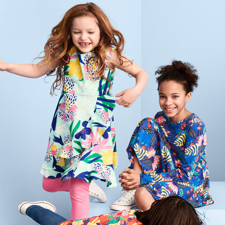 Tropical Floral Kids Dress