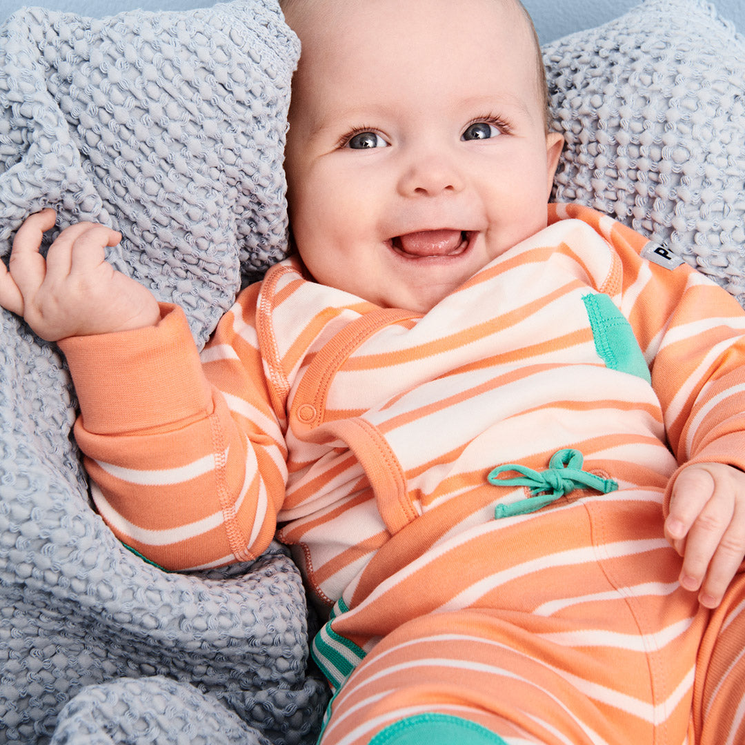 Striped Wraparound Baby Bodysuit