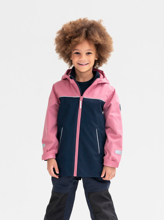 Long Waterproof Kids Shell Jacket