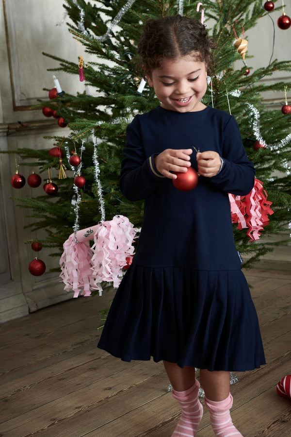 Pleated Skirt Kids Dress