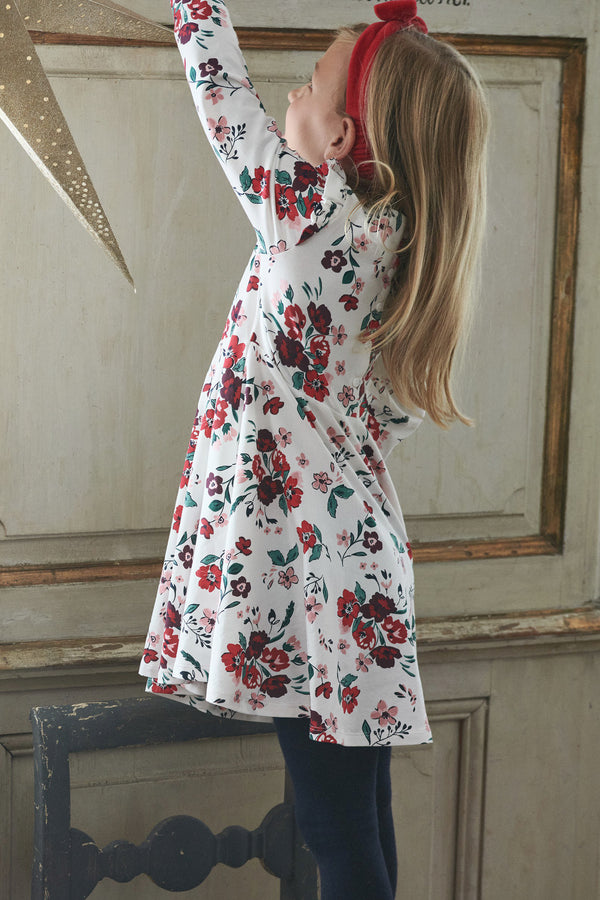 Kids Floral Twirl Dress