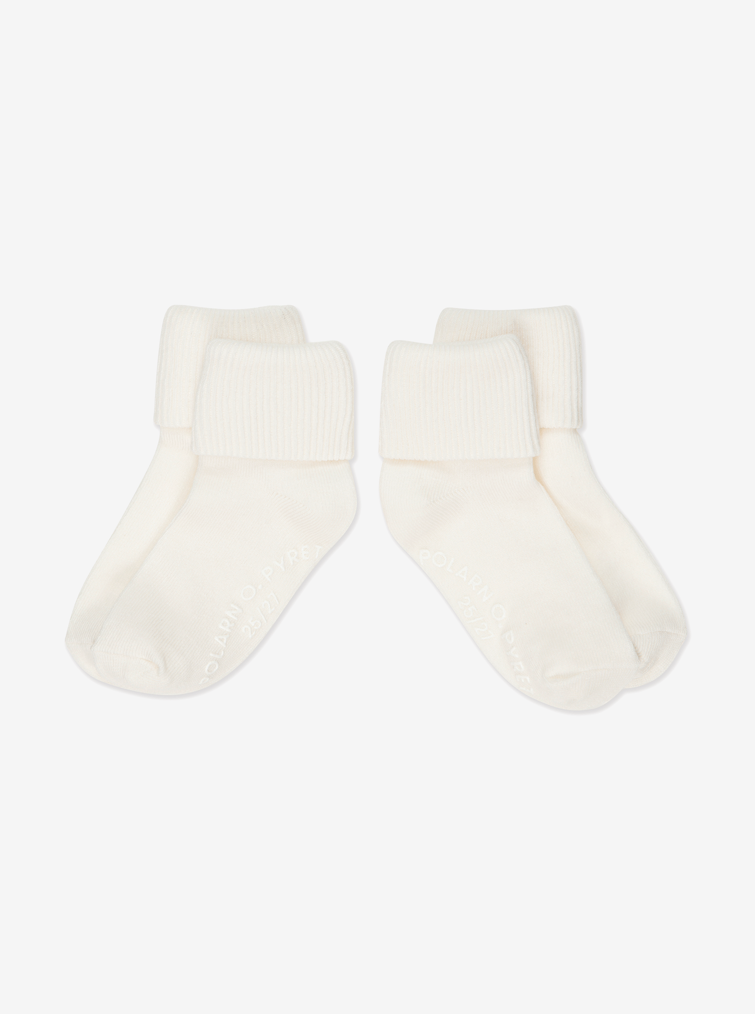 2 Pack Kids Antislip Socks White Unisex 4m-6y