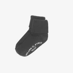 2 Pack Kids Antislip Socks Black Unisex 4m-6y
