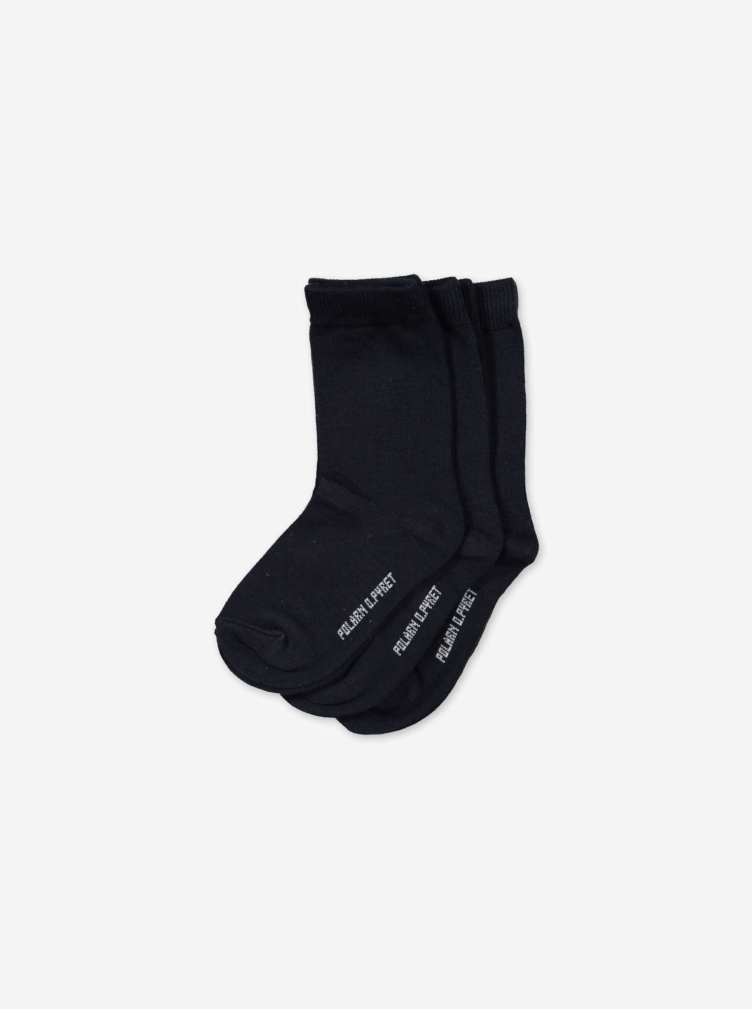 3 Pack Kids Socks Black Unisex 2-12y