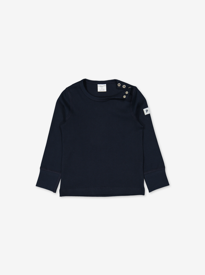 Organic Kids Top Navy Unisex 6m-12y