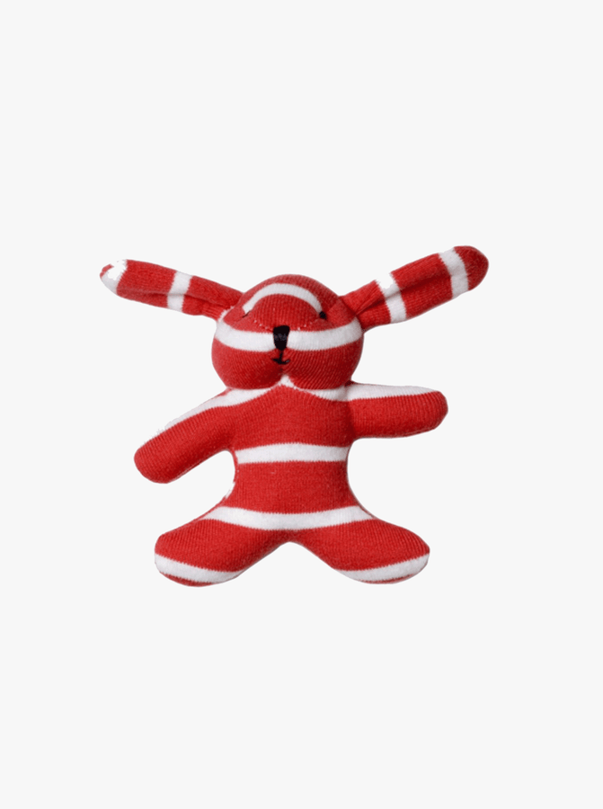 PO.P Stripe Mini Bunny Red Unisex One Size