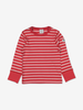 PO.P Stripe Baby Top Red Unisex 0-2y