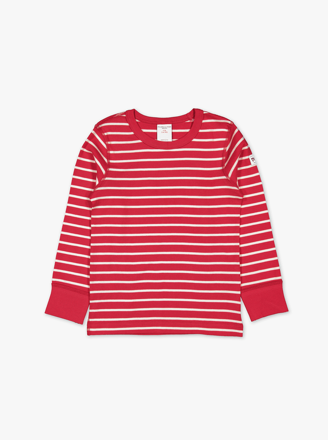 PO.P Stripe Kids Top Red Unisex 2-12y