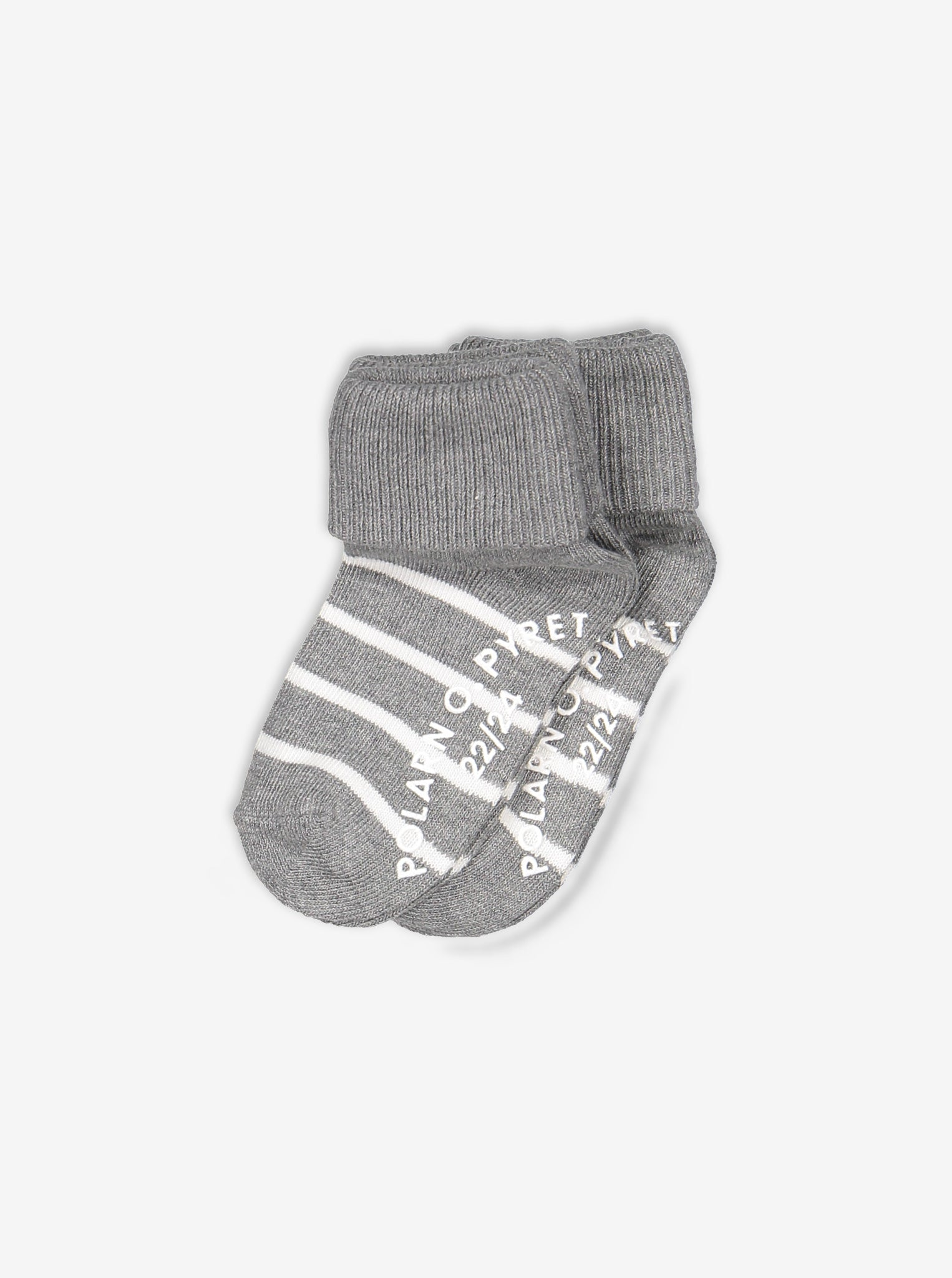 2 Pack Anti-Slip Kids Striped Socks