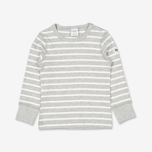 PO.P Stripe Baby Top Grey Unisex 6m-2y