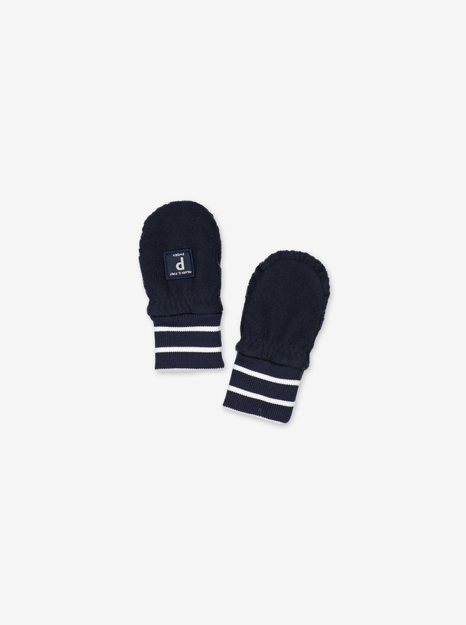 Fleece Baby Mittens Navy Unisex 0-2y