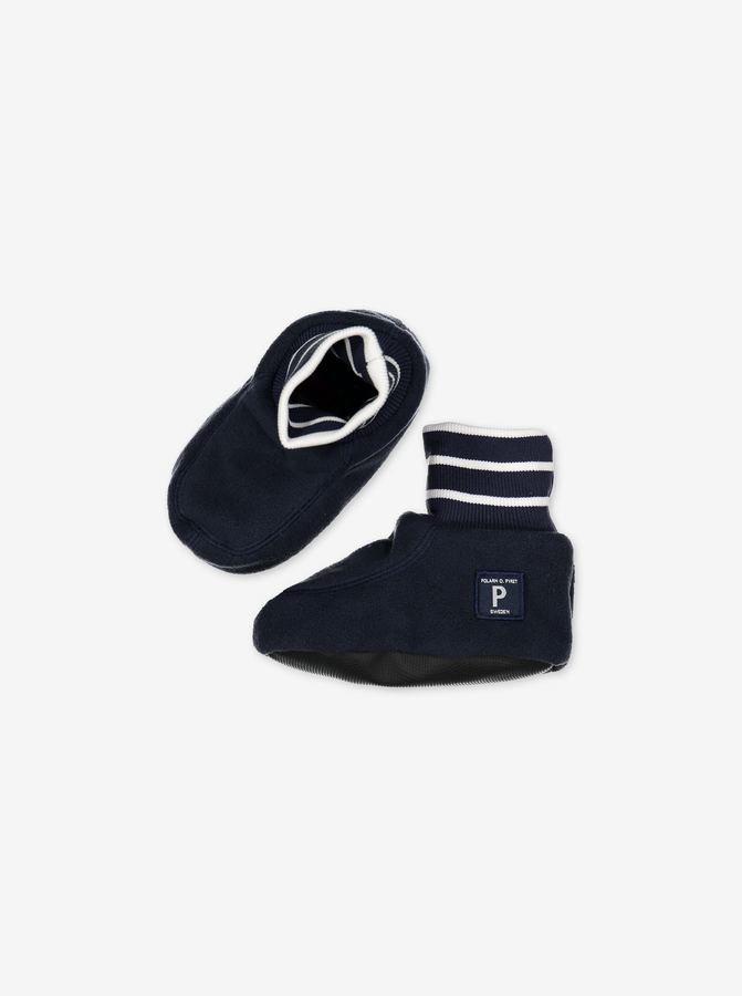 Fleece Baby Booties---Navy---Unisex---0-2y