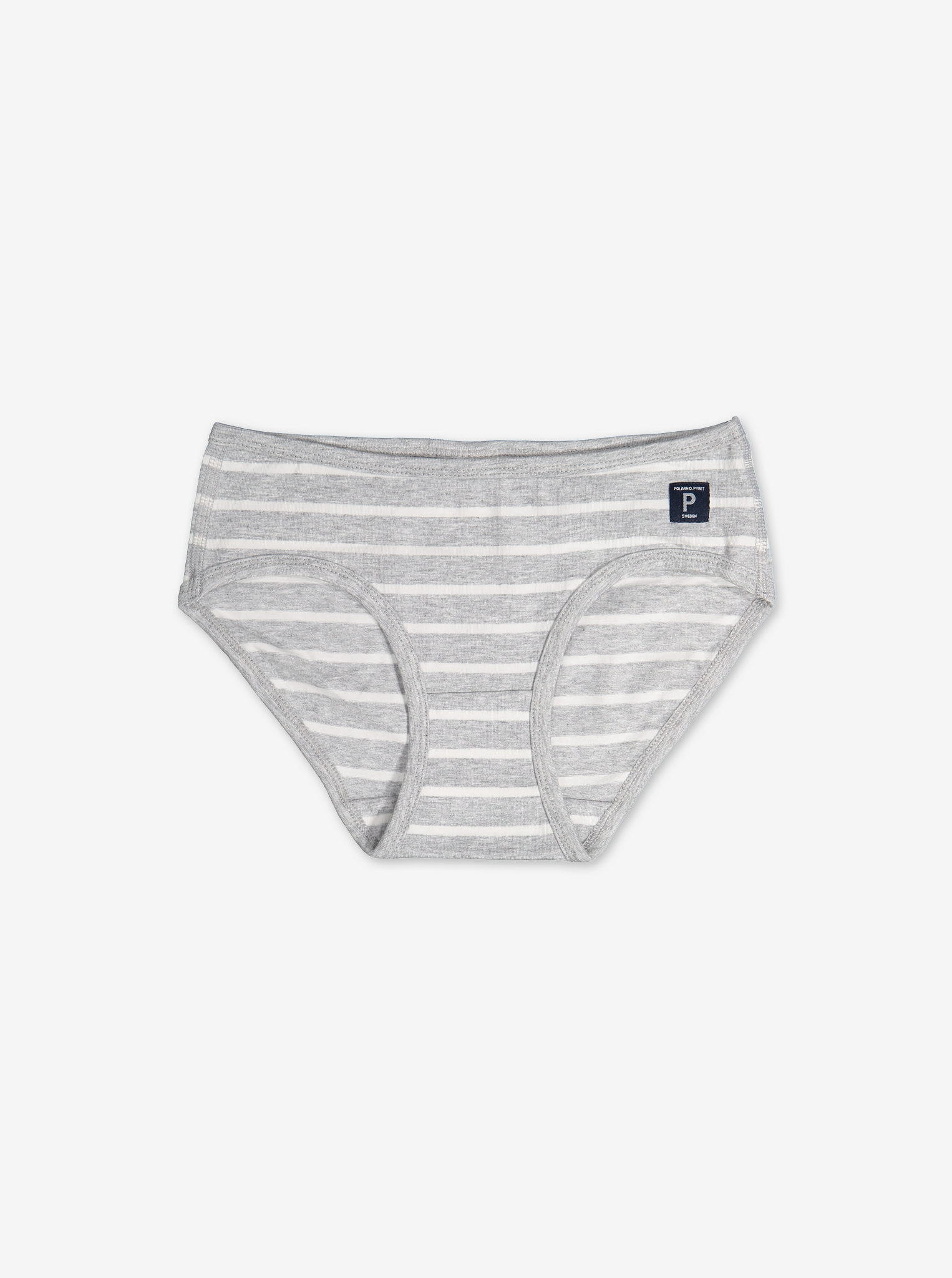 PO.P Stripe Girls Brief Grey Girl 1-12y