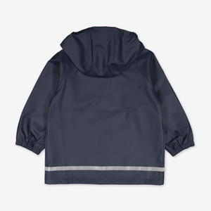 Waterproof Kids Raincoat---Navy---Unisex---1-8y