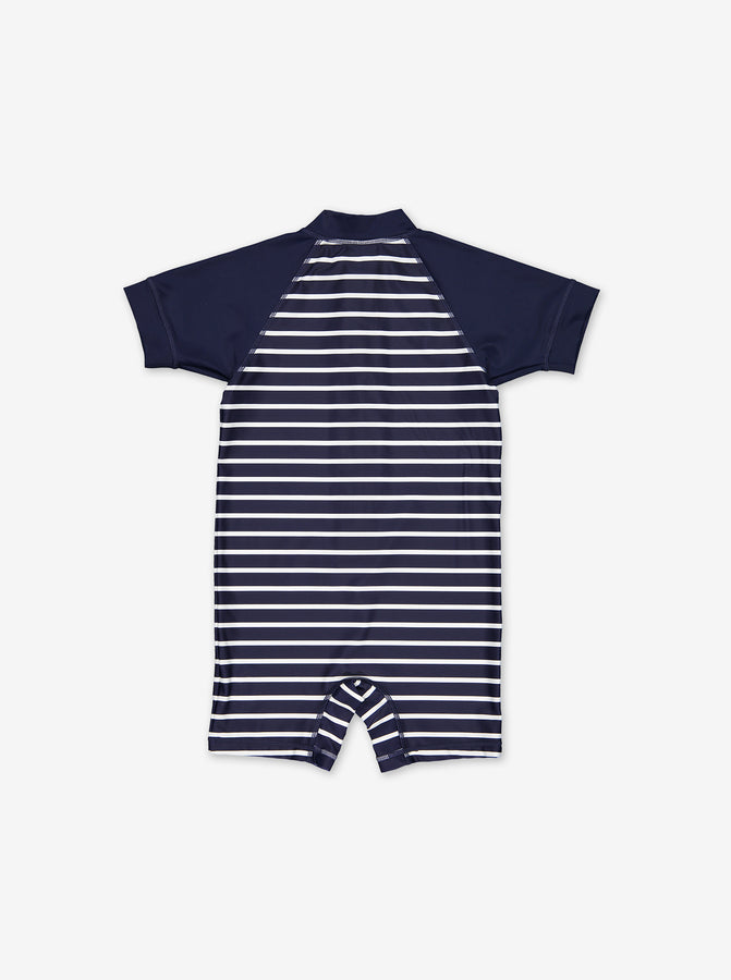 UPF 50 Striped Kids Swimsuit