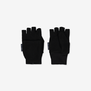 Flip-Top Kids Gloves Black Unisex 2-12y