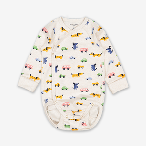 Puppies & Cars Wraparound Baby Bodysuit