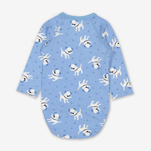 Playful Puppy Wraparound Baby Bodysuit
