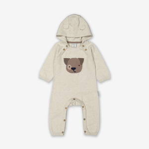 Knitted Puppy Baby All-In-One