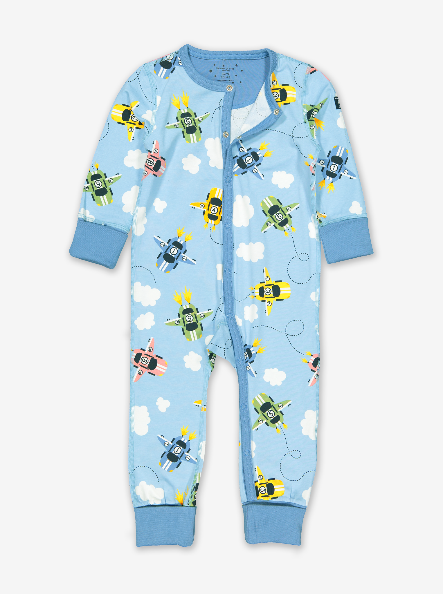 Flying Racer Print Onesie Pyjamas