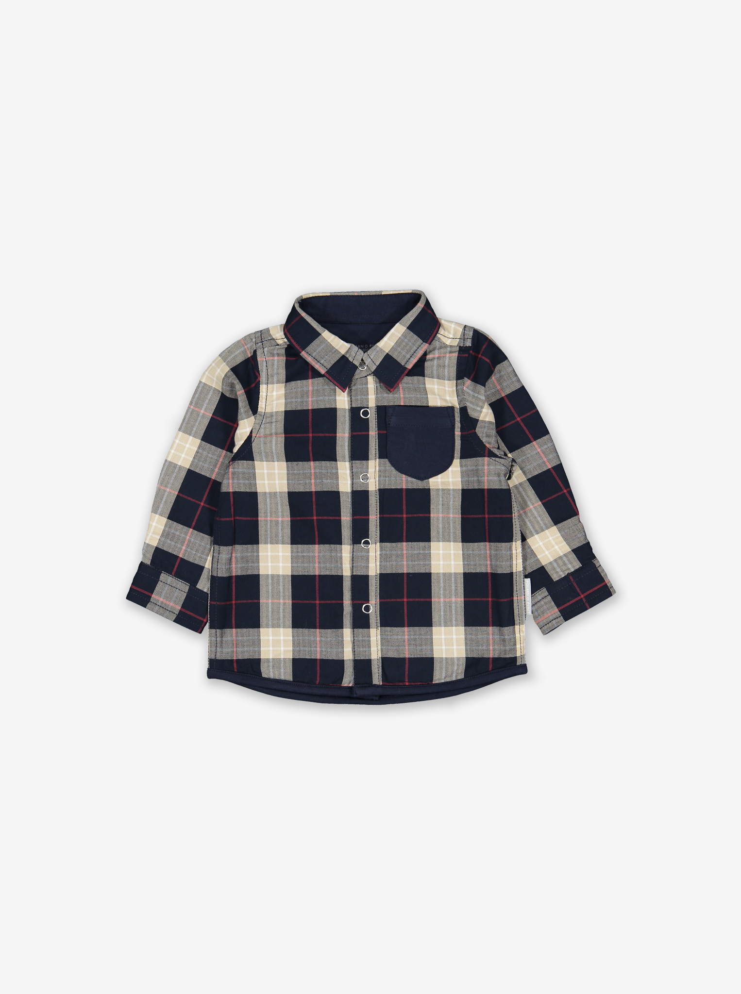 Check Flannel Baby Shirt