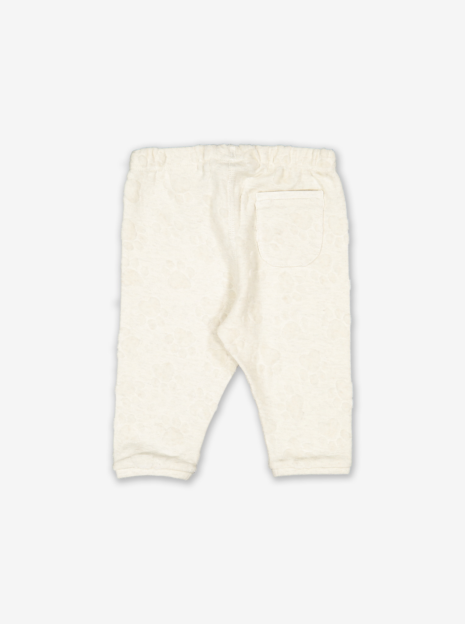 Pawprint Textured Baby Trousers
