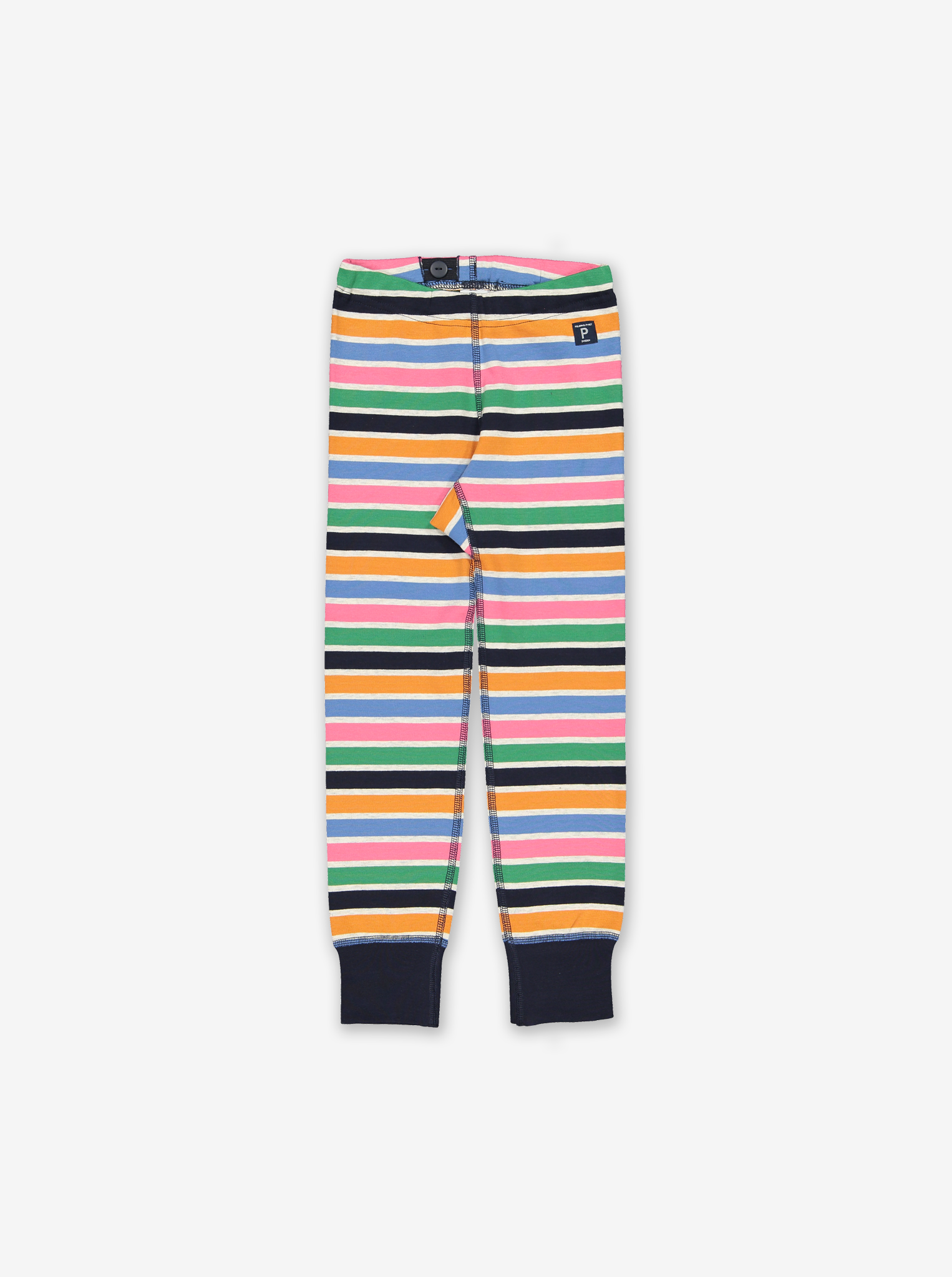 Striped Kids Cuffed Leggings