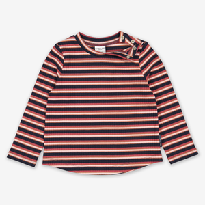 Striped Ribbed Kids Top