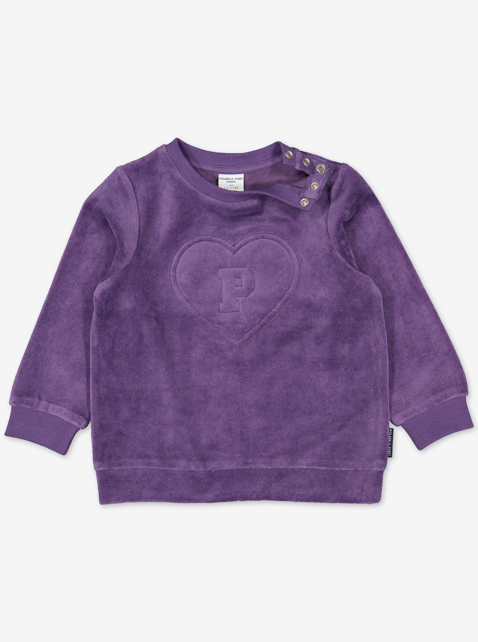 Kids Velour Heart Top