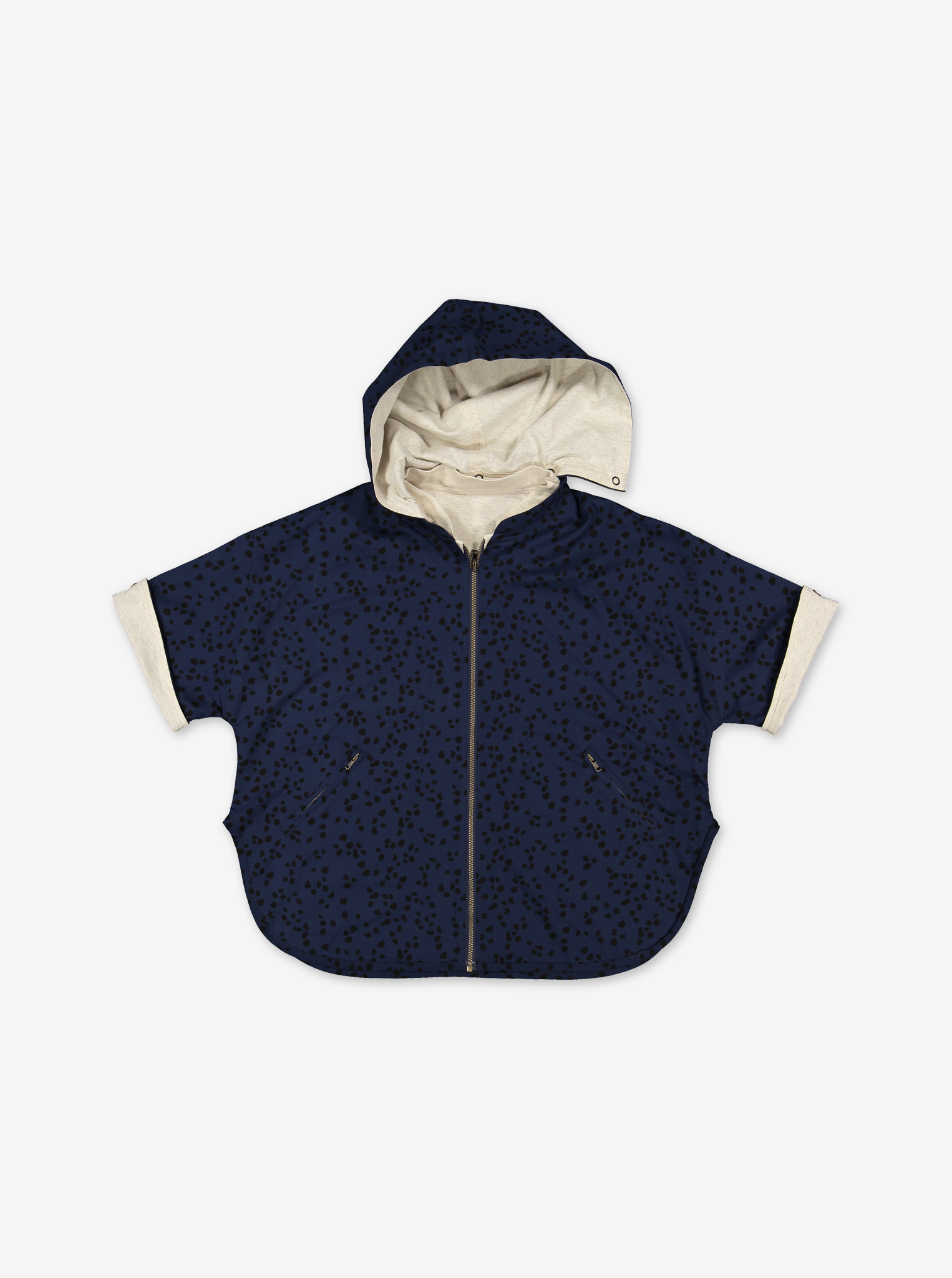 Reversible Kids Poncho Jacket
