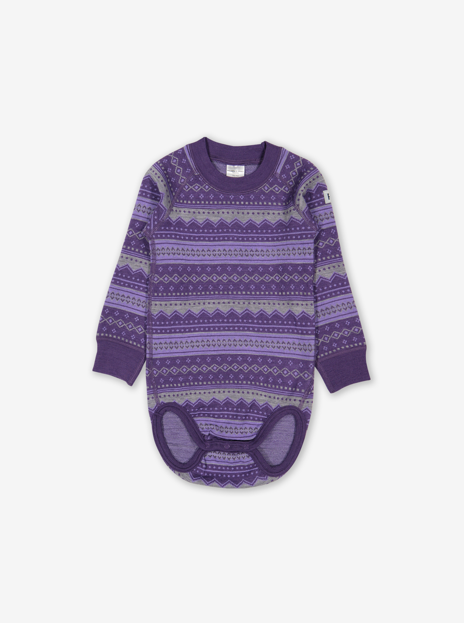 Fairisle Thermal Merino Baby Bodysuit