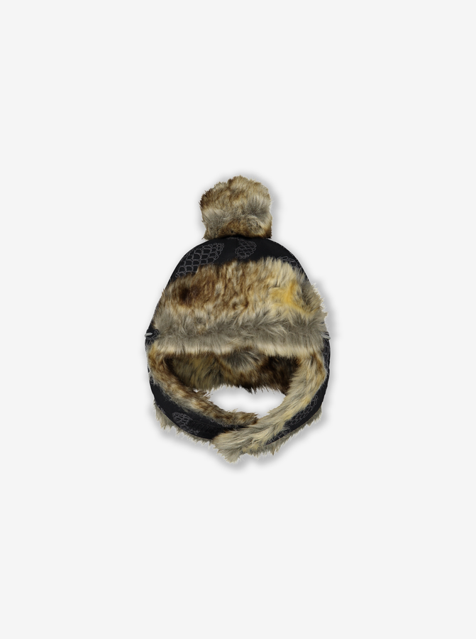 Fur Trim Baby Hat
