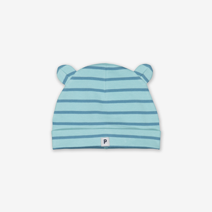 Striped Baby Beanie Hat Purple